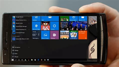 how to run windows 10 on android device