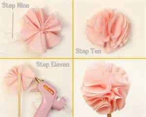 Material Flowers Diy - paiges of style diy fabric flower cupcake topper