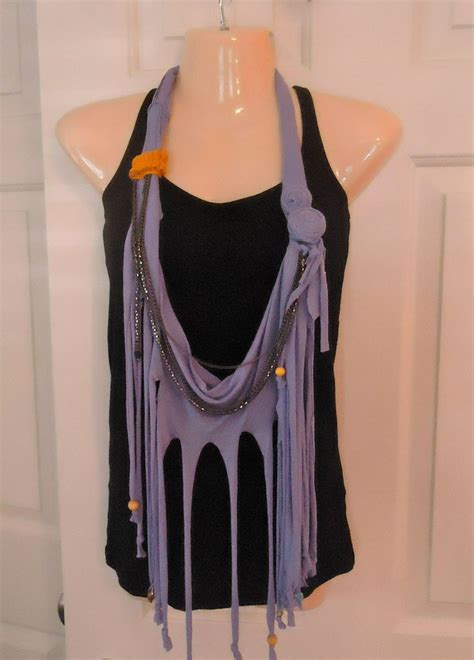 pattern for t shirt necklace tshirt necklace scarf add beads for me rock n roll yarn