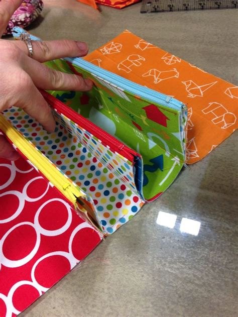 Multi Zippered Pouch Pattern | sew together bag sewalong pretty pouches bonnie bags