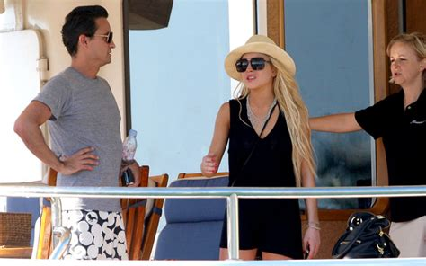 Lindsay Lohan Hangs Out With Jude At The Box by Lindsay Lohan Hanging Out In St Barts Zimbio
