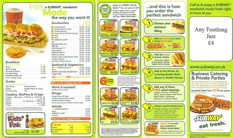 Best Resume Format To Download by Subway Menu 00e06 Yourmomhatesthis