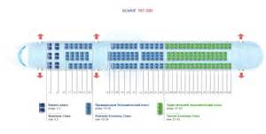 azur air 767-300 схема салона