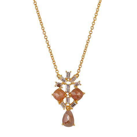 Gold Fashion Nersels Designer Trendy Gold Jewelry 2 by 3 07ct 18k Solid Gold Designer Chain Necklace