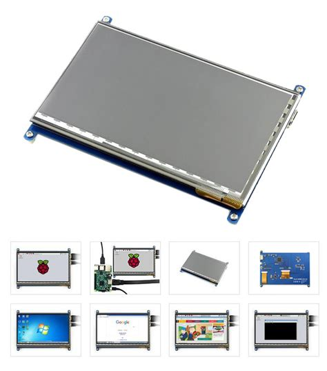 Raspberry Pi 7 Inchi Ips Lcd Capacitive Touchscreen Waveshare 7 inch hdmi capacitive ips display lcd for raspberry pi