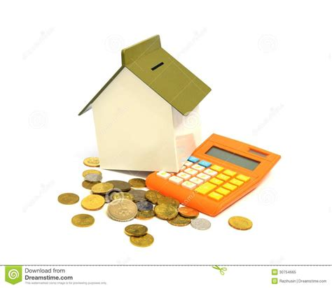 buy house calculator house calculator and coins royalty free stock photo image 30754665