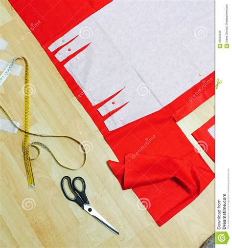 fabric pattern tools sewing pattern and tools stock photo image 66065655