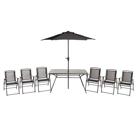bahama dining table bahama metal 6 seater dining table chairs departments