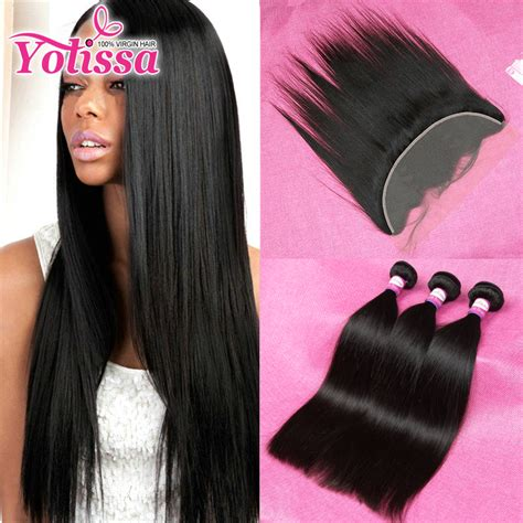 aliexpress yolissa hair aliexpress com buy lace frontal closure with bundles
