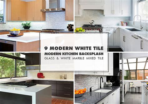 white glass tile backsplash contemporary kitchen 9 white modern backsplash ideas glass marble mosaic tile