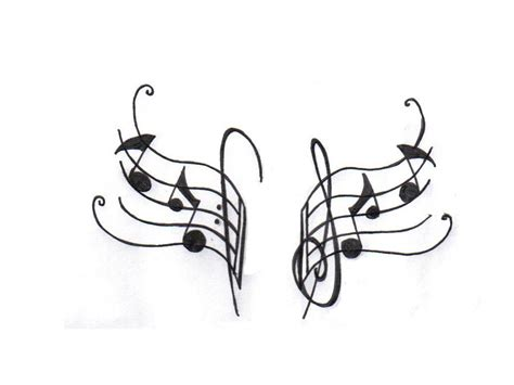 music tattoo designs free note stencils images for tatouage