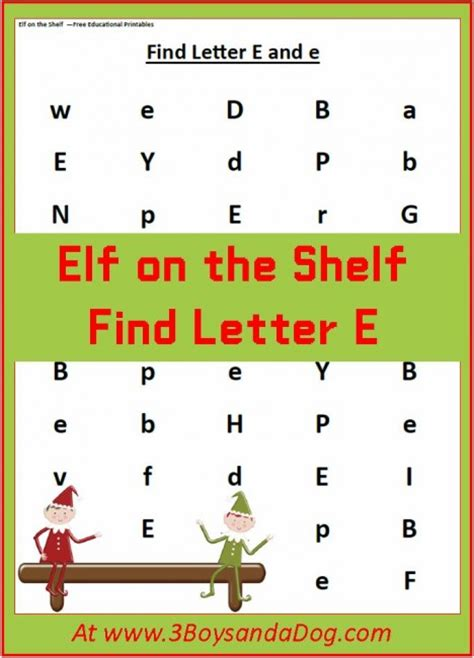 find the letter e is for printable