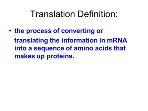 protein biology definition general biology notes translation a k a protein synthesis
