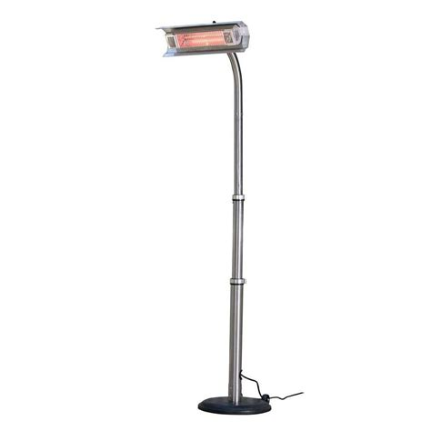 Infrared Patio Heaters Electric Sense 1 500 Watt Stainless Steel Infrared Electric Patio Heater 02117 The Home Depot