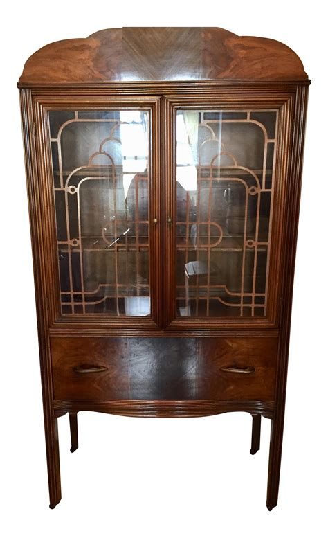 art deco waterfall china cabinet art deco waterfall china cabinet chairish