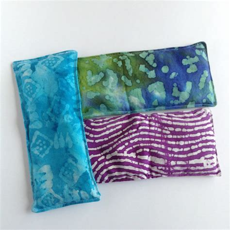 microwave rice bag peppermint eye pillow small by