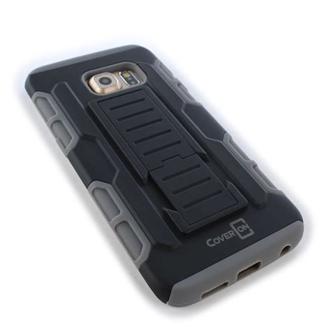 Casing Cover Samsung S6 Edge Stand Holster Belt Clip Armor Future for samsung galaxy s6 edge tough hybrid kickstand belt clip holster cover ebay