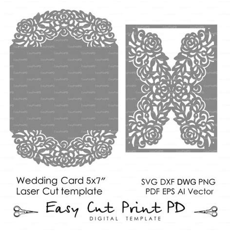 dxf templates lace silhouette cameo and wedding on