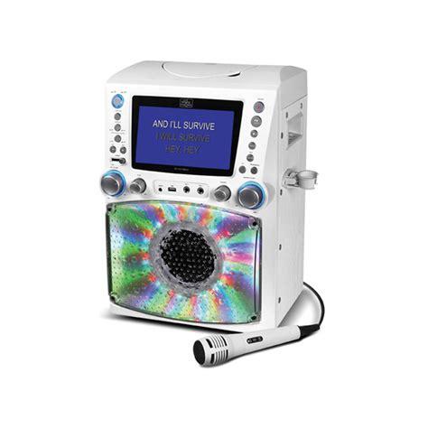 karaoke with disco lights singing machine stvg785bt cdg mp3g bluetooth karaoke all