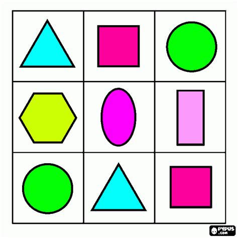 printable shapes in color printable shape flash cards coloring