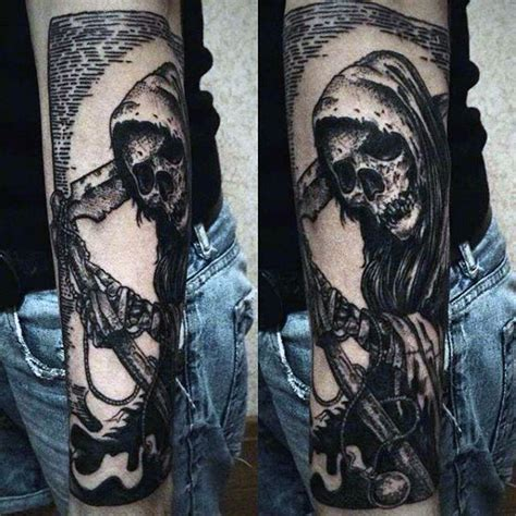 grim reaper tattoo designs for men 70 grim reaper tattoos for merchant of designs