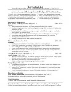 Merchandising Associate Sle Resume by The Brilliant Retail Merchandiser Resume Sle Resume Format Web