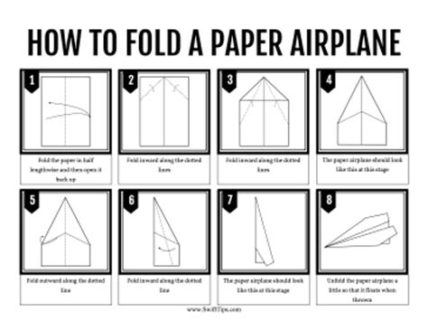How To Fold A Paper Airplane - 14 best photos of printable paper airplane templates
