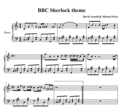 theme music sherlock sheet music for the theme song sherlock