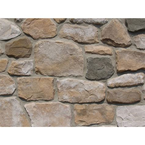 shop ply gem stone fieldstone 10 sq ft autumn faux stone