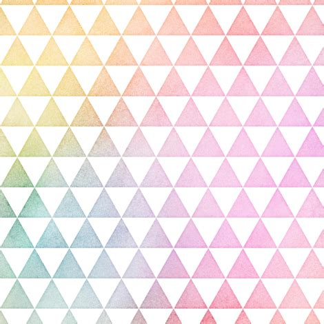 Pastel Triangle by Pastel Rainbow Watercolor Triangles Pattern Fabric