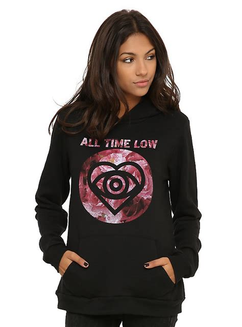 Hoodie Pullover All Time Low Pcs 1 all time low floral logo pullover hoodie topic