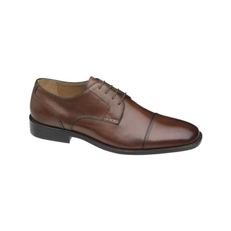 johnston murphy shoes johnston murphy knowland cap toe lace up shoes in brown