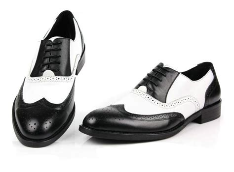 black and white mens oxford shoes black and white wingtip oxfords foto 2017