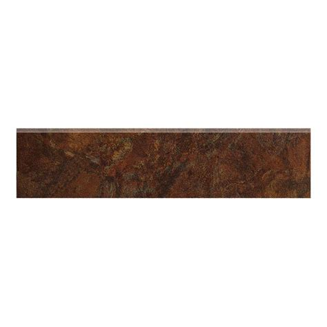 marazzi imperial slate 3 in x 12 in rust ceramic bullnose floor and wall tile uh6a the home