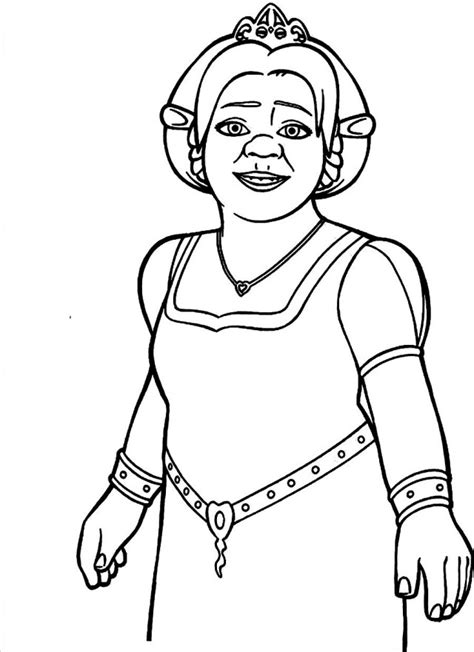 coloring pages of princess fiona fiona pictures from shrek az coloring pages