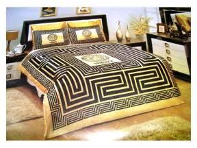 Black And Gold Duvet Set Versace Bedding Set Satin Medusa Duvet Set Black Gold