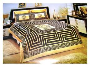 Versace Bed Set Versace Bedding Set Satin Medusa Duvet Set Black Gold Versache Gold Bed