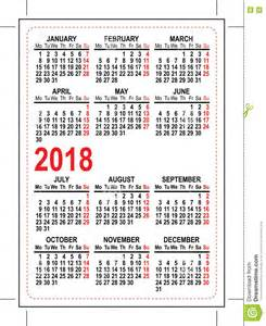 Kalender 2018 Suid Afrika Grid Pocket Calendar 2018 Stock Vector Image Of Grid
