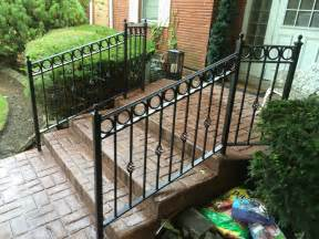 Black Handrails For Stairs Stairs Stunning Outdoor Wrought Iron Railings Amusing