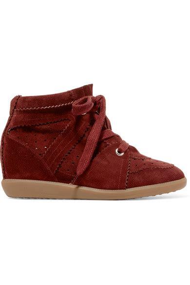 Sepatu Mr La Original 1 marant bobby suede wedge sneakers net a porter
