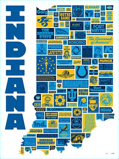 Home Design Products Indiana | draplin design co ddc 103 quot incredible indiana quot poster