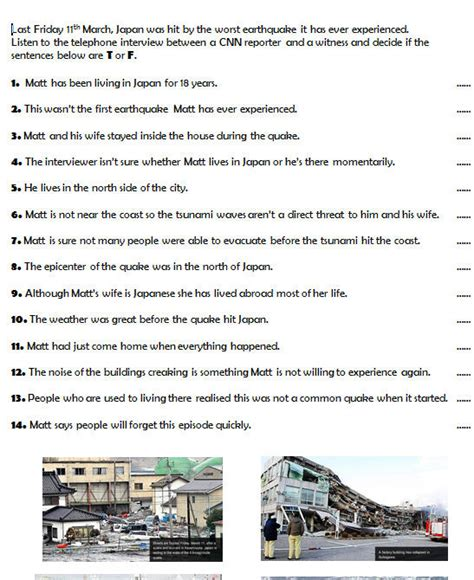 Tsunami Worksheet by 16 Free Earthquake Worksheets And Lesson Plans
