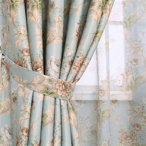 sheer curtains for sale hot sale modern rose floral curtains for window curtain