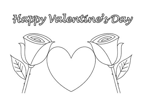 happy valentine s day flowers coloring page free free coloring pages of mom valentines