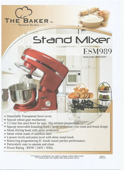 Mixer The Baker the baker stand mixer esm 989 end 7 22 2017 3 15 pm myt