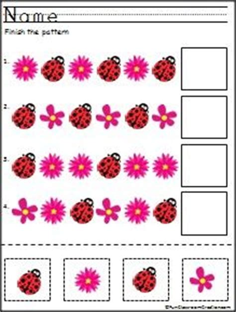 pattern matching kindergarten cut and paste pattern worksheets for kindergarten