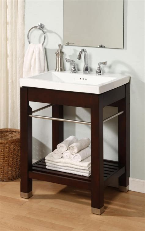 24 Inch Single Sink Square Console Bathroom Vanity with White Ceramic Sink UVEINY24