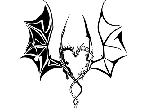 dragon heart tattoo designs tribal drawing www pixshark images