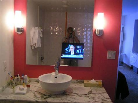 flamingos in bathroom tv set into the bathroom mirror picture of flamingo las