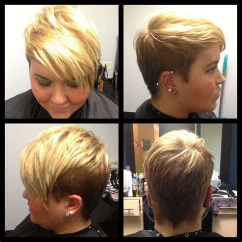 undercut pixie pixie  blonde highlights hairology pinterest undercut pixie undercut